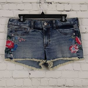 Express Short Shorties Relaxed Low Rise Embroidery